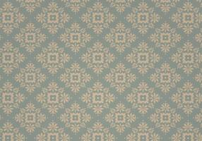 Stofachtig Blauw Vintage Vector Patroon