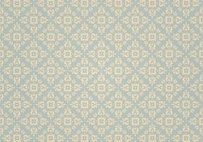 Blauw Vintage Ornament Vector Patroon
