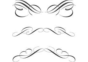 Gratis Kalligrafische Ornamentvectoren vector