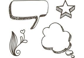 Gratis schetsmatig Doodle vectoren