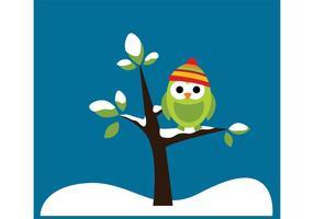 Winter Owl Vectoren