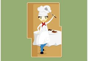 Chef-kok Vector