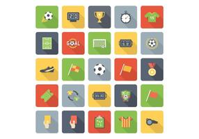 Gratis Flat Soccer Vector Pictogrammen