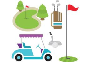golf vector items
