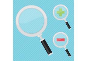 Vergrootglasvectoren vector