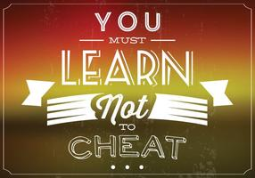 Cheat niet Vector Achtergrond