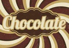 Vintage Chocolade Sunburst Vector Achtergrond