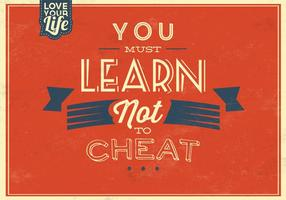 Rode Cheat niet Vector Achtergrond