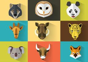 Wild Animal Vector Portretten