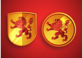 Heraldische Leeuwvectoren vector
