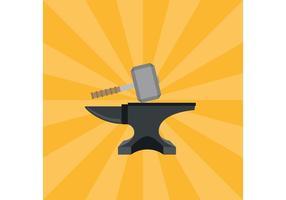 Hammer En Anvil Vector