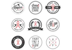 Gratis Borstkanker Awareness Badges vector