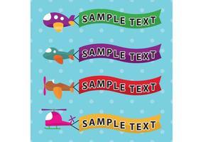 Vliegtuigen Banner Vectoren