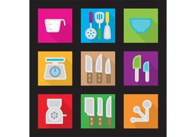 Keuken Vector Platte Pictogrammen