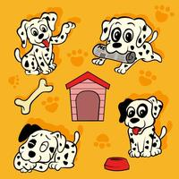 Dalmatische Puppy Vector Pack