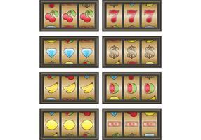 Gouden Slot Machine Vectoren