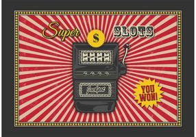 Gratis Retro Slot Machine Vector Achtergrond