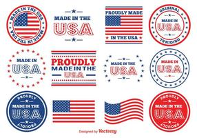 Gemaakt in de VS Vector Postzegels