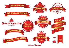 Grand Opening Vector Banners