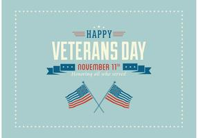 Gratis Happy Veterans Day Vector Wallpaper