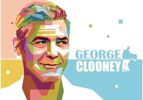 George Clooney Vector Portret