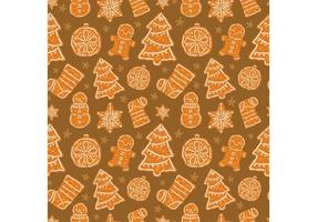 Gratis Kerstmis Dessert Vector Naadloos Patroon