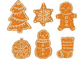 Gratis Kerstmis Dessert Vector Pack