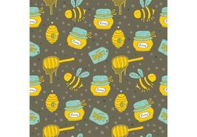 Gratis Honingdruppel Vector Naadloos Patroon