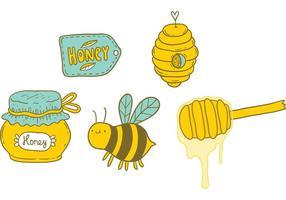 Gratis honingdruppel vector