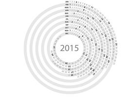 Simple Circle Daily Planner Vector