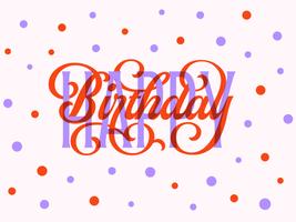 gelukkige verjaardag typografie kaart