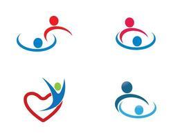 gemeenschap logo sjabloon vector
