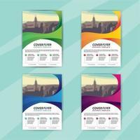 zakelijke folder sjabloon set met swirl design vector