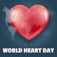 wereld hart dag banner