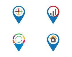 aanwijzer logo sjabloon pictogramserie vector