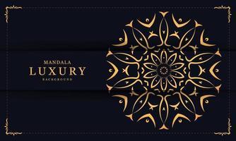mandala gouden luxe achtergrond vector