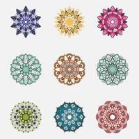 kleurrijke mandala set vector
