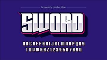 moderne glanzende sportteam typografie