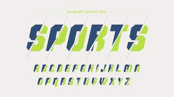 lichtgroene blauwe moderne gesneden aangepaste typografie