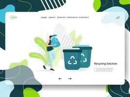 bestemmingspagina voor recyclingoplossing vector