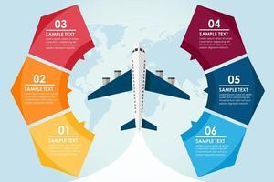 reizen per vliegtuig infographic vector