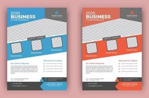 moderne conferentie sjabloon folder set