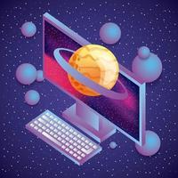 planeet saturn computer vector