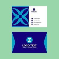 blauwe geometrische elegante visitekaartjesjabloon