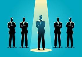 zakenman silhouet in de kijker