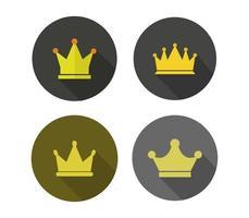 kroon ingesteld op witte achtergrond