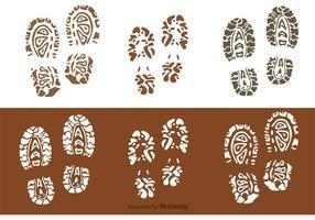 Modderige voetafdrukken vectoren