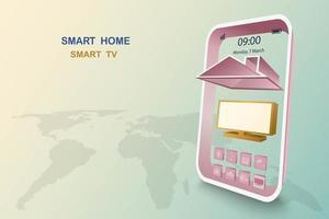 smart home met tv-bediening vector