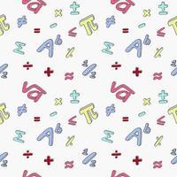 naadloos patroon van wiskundige symbolen. vector