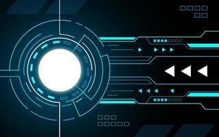 gloeiende cirkel technologie-interface hud vector